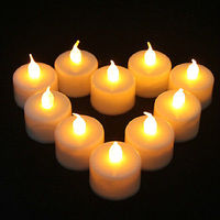 12Pcs Led Flameless Tealight Candles Electric LED Yellow Candle Home Decor
