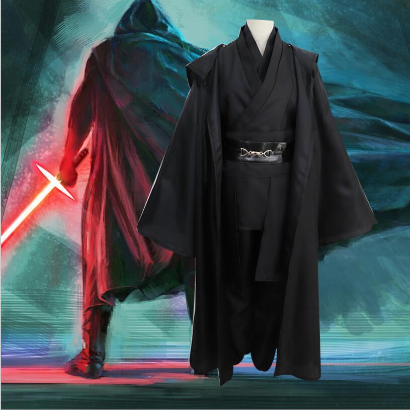Star Wars Jedi Knight Obi Wan Kenobi Cosplay Costume Cloak Set