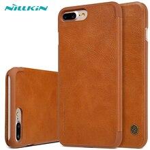 Чехол для Apple iPhone 7 7 Plus Nillkin Qin Series бумажник флип чехол для iPhone 7 iphone7 плюс Натуральная Флип кожаный чехол