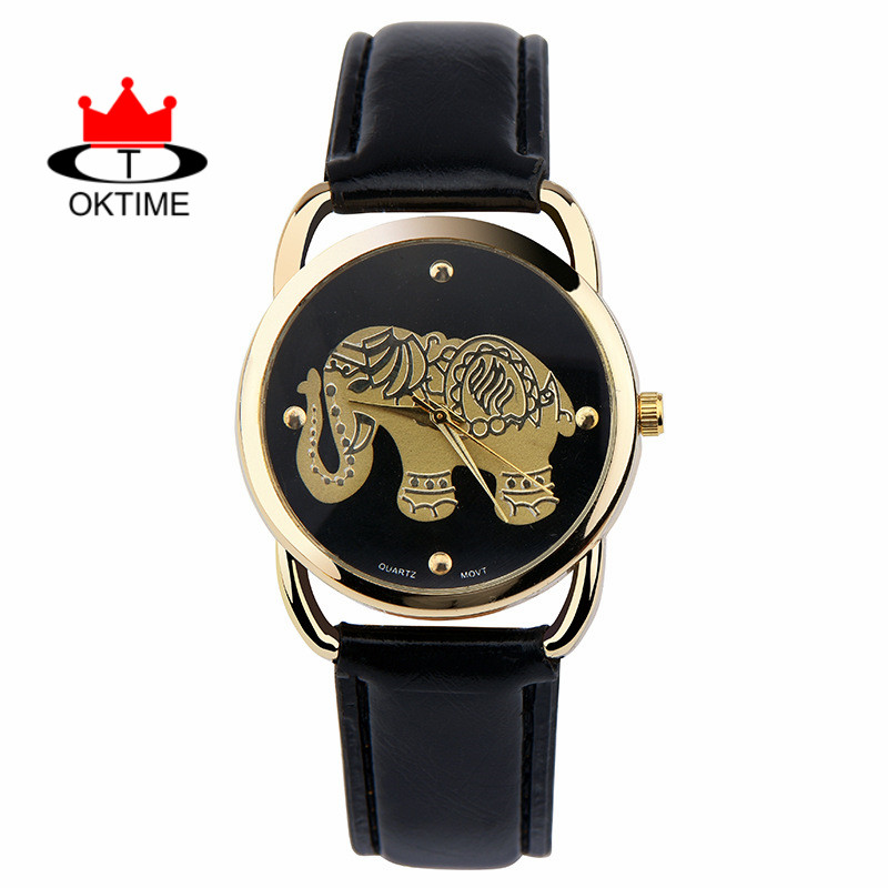 DHL Free, 100pcs/lot, Elephants Children watch women unique fashion brand OKTIME quartz watches kids wristwatches smart