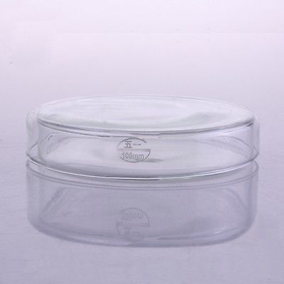 75mm Glass Reusable Tissue Petri Culture Dish Plate With Cover For Chemistry Laboratory