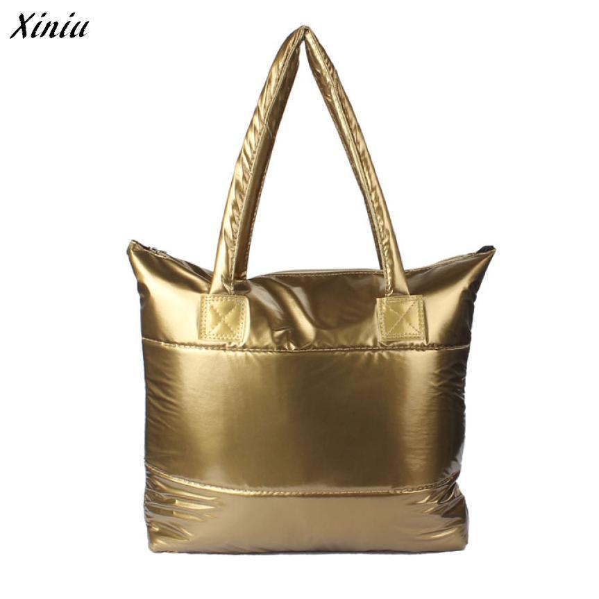 Fashion handbag Women Messenger Bags Solid Metallic color Waterproof Shoulder Bag Bolsa Feminina Grande bag#5 stylish women s solid color pleated culotte