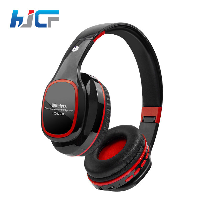 Quality HJCF Wireless Headphones Stereo Bluetooth Headset HIFI Music With Mic TF Card Slot FM Radio Handsfree For PC Phone KDK56