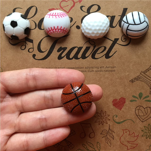 Freeshipping Sports Balls Fridge Magnet 5pcs/lot Mini Figure Tourist  Souvenir Home Office Decor Party