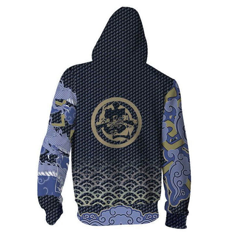 Anime Game Clothes 3D Printed Shimada Hanzo Hoodies Sweatshirts For Men Casual Outerwear Long sleeve Loose Hooded Zipper Jackets in Hoodies amp Sweatshirts from Men 39 s Clothing