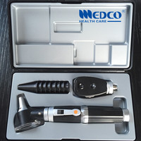 DHL free shipping 20pcs/lot Medical Diagnostic Set Fiber Optic Otoscope & direct ophthalmoscope ear otoscopio & oftalmoscopio