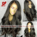 Natural Wave Synthetic Lace Front Wig With Baby Hair Cheap Good Quality Body Wave Synthetic Wigs for African Americans