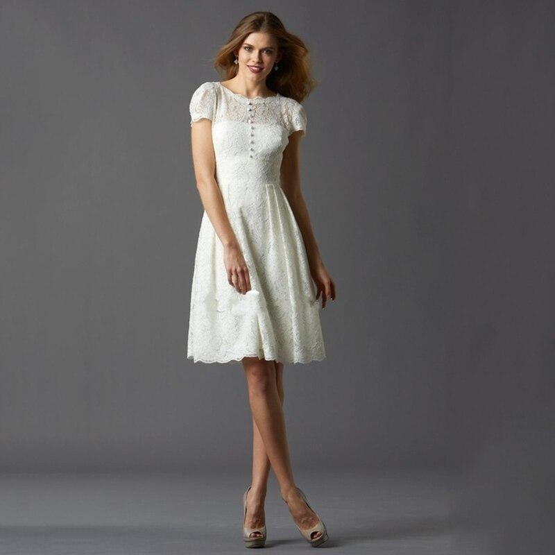 2016 Captivating Ivory Lace Vinatge Short Bridesmaid Dresses With Ons Wedding Guest Vestido De Festa Casamento In From