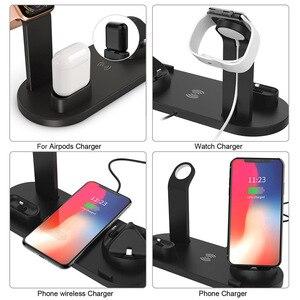 Image 5 - 10W Qi Draadloze Oplader voor iPhone X XS XR 8 11 Snel Opladen Dock Station Voor Apple Horloge 5 4 iWatch Airpods Opladen Pad Stand