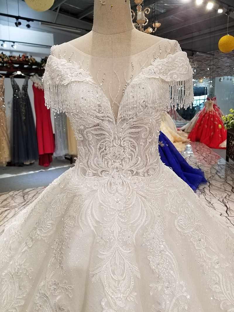 LS34449 свадебное платьерукав-крылышко торжественное платье с бисером с круглым вырезом милая дешевые КРАСОТЫ свадебное торжественное платье ing платье Китай 2018 новейший дизайн
