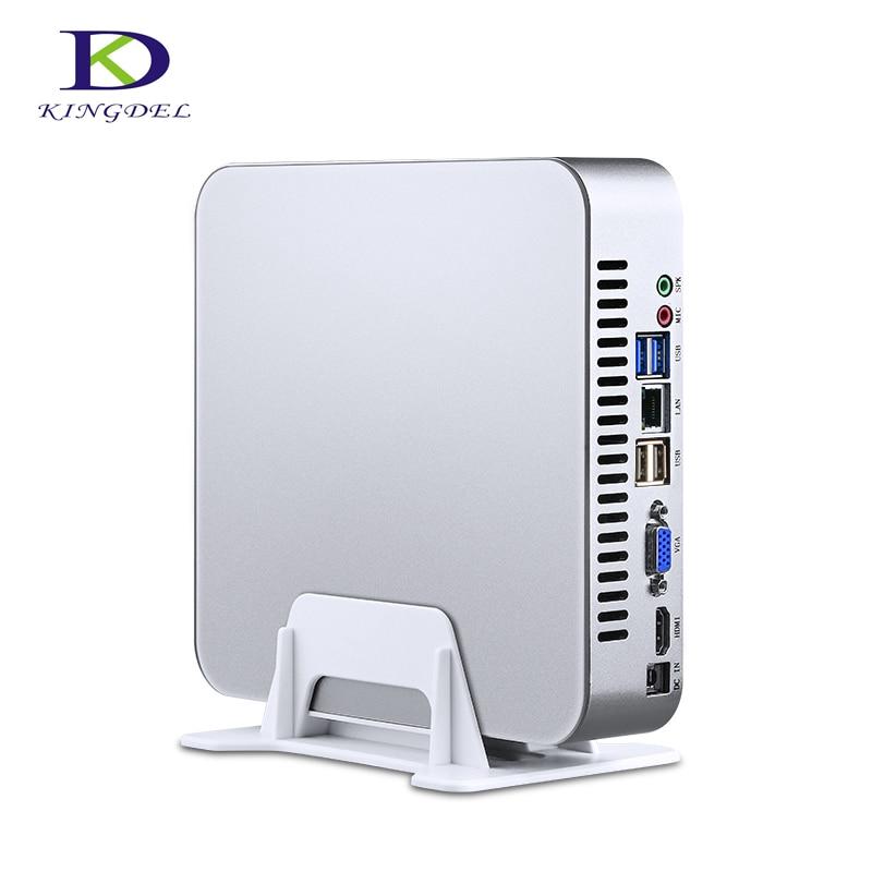 32G DDR4 RAM 512G SSD Mini PC With Intel 7th Gen I5 7500 Quad Core Quad Threads 6MB Cache Desktop Office Computer Pocket PC VGA