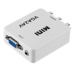 Image 5 - Kebidu 1080P מיני VGA כדי AV RCA ממיר עם 3.5mm אודיו VGA2AV/CVBS + אודיו ממיר עבור HDTV מחשב לבן