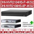 <font><b>DH</b></font> NVR2104HS-P-4KS2 NVR2108HS-8P-4KS2 4CH 8CH POE NVR 4K рекордер Поддержка HDD 4/8CH POE для системы видеонаблюдения комплект безопасности.
