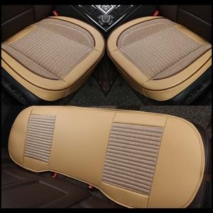 Image 3 - Housse de siège de voiture en cuir 3D, housse de siège de voiture, coussin pour VolksWagen Passat Toyota Honda Ford Chevrolet Mazda Peugeot KIA