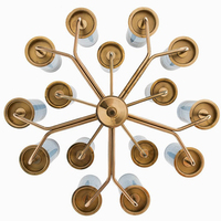 Modern Nordic Pendant Lights Luxury Gold Metal Body Blue Gold Shade Bar Stair Dining Room Home