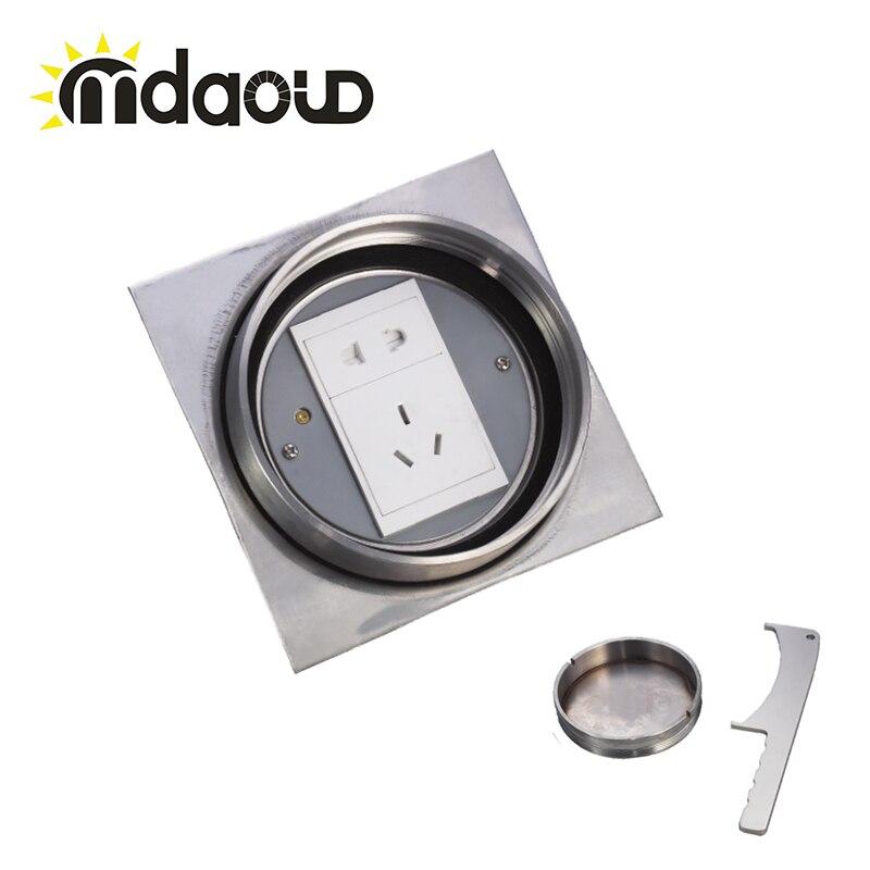250V Plastic Panel German Floor Socket/with PC socket Electrical Outlet