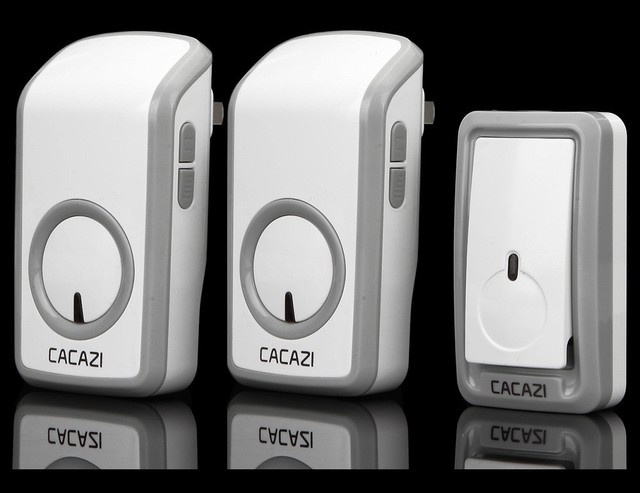 48 Ringtone Wireless Doorbell Door Bell Chime,Volume Control Adjustable,One  Button And Two