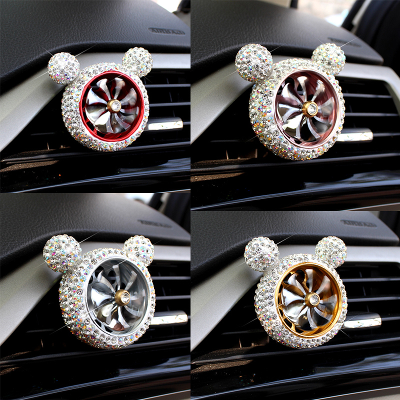 1 Pcs Crystal Car Air Freshener Auto Outlet Perfume Vent Air Freshener Conditioning Clip Car Fragrance Diffuser Solid Perfume-in Air Freshener from Automobiles & Motorcycles