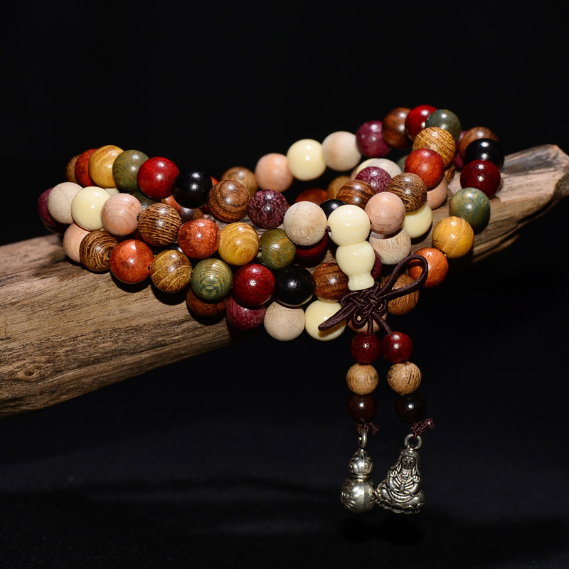 Tibetan Buddhist Bracelets Mala Rosary Wooden Prayer Beads Cindiry Variety of 108--6mm/8mm
