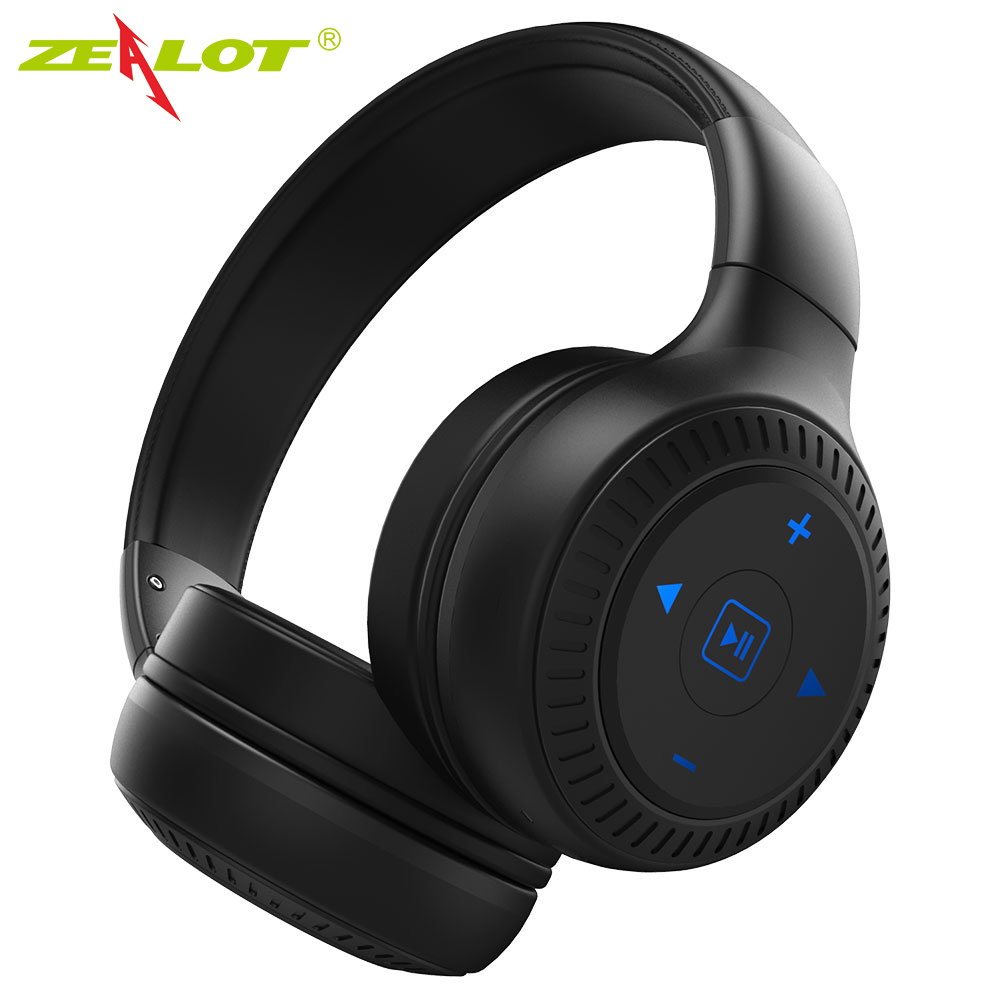 Zealot B20 Headphones Earphones Wireless Bluetooth Stereo Foldable Auriculares Bass with microphone Earbuds for phone xiaomi zealot b20 stereo bluetooth headset hifi super bass wireless headphone handsfree with microphone for ios android phone