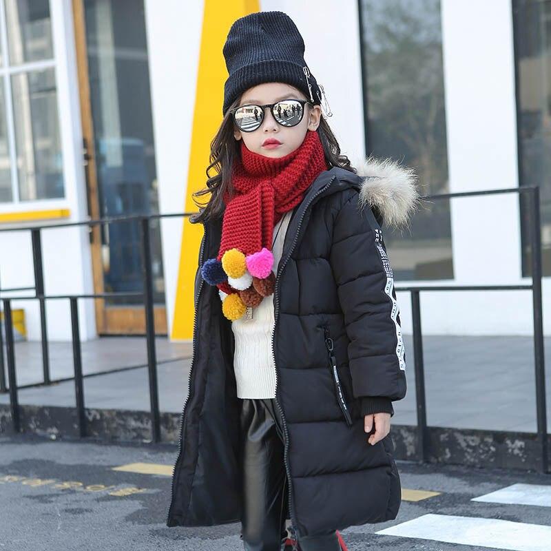 2017 Новый 120-160 см Детская куртки толстые хлопка мягкой куртки для девочек теплый искусственного меха пальто дети с длинным Верхняя одежда