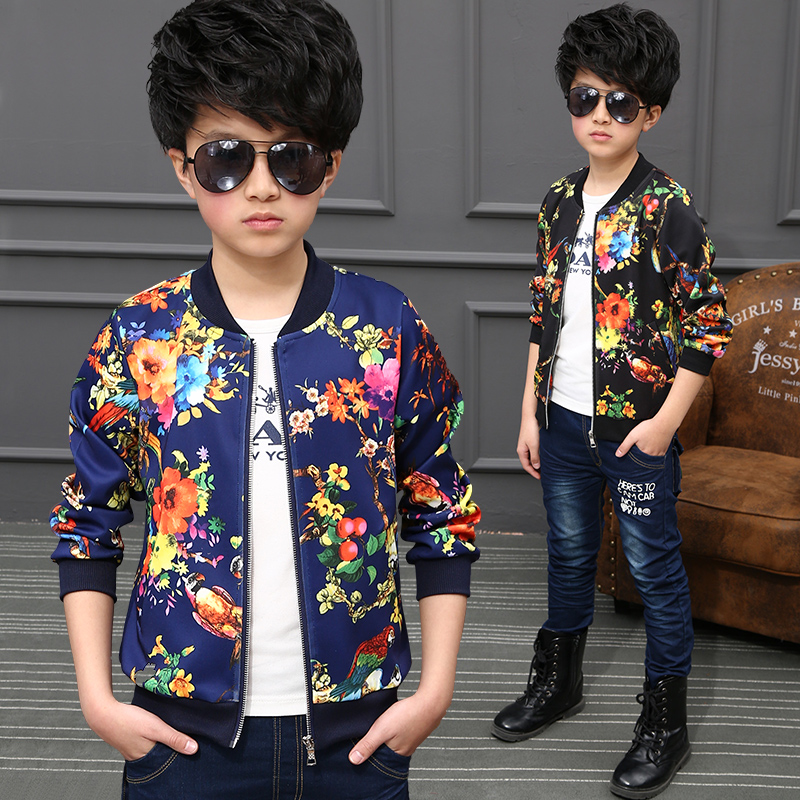 2018 Spring and Autumn Jackets Boys coat Bomber Jackets Army Print Boys Trench Jackets Winter Jackets Kids Children coat