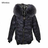 AW18 018 New Design Winter Coat Big Raccoon Fur Collar Faux Fur Inner Parka Jacket bomber jacket Women Winter Coat