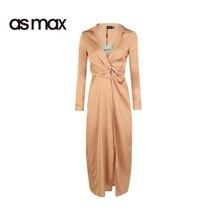 asmax font b 2017 b font Autumn Sexy Pleated Side Split font b Dress b font