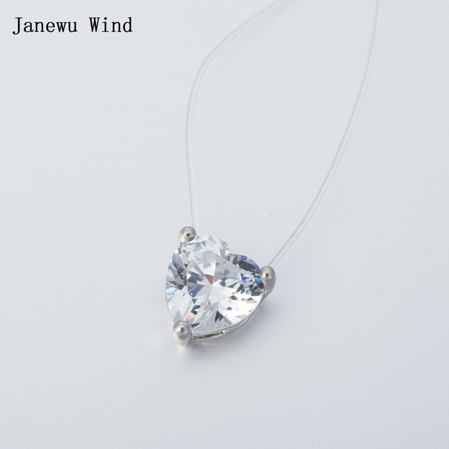 Janewu wind transparent invisible line super shinning choker janewu wind transparent invisible line super shinning choker necklace women fishing line heart crystal pendant necklace aloadofball Gallery