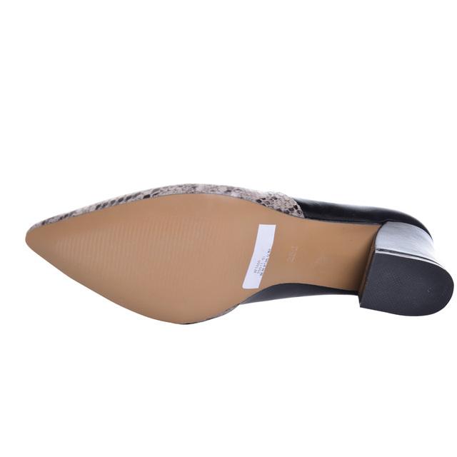 HEE GRAND Serpentine High Heels Sexy Patchwork Elegant Pumps Low Heels Platform Women Casual Shoes Slip On Shoes Woman WXG213