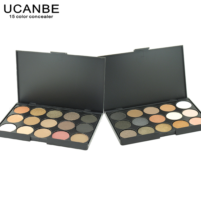 UCANBE 15 Earth Color Matte Pigment Glitter Eye shadow