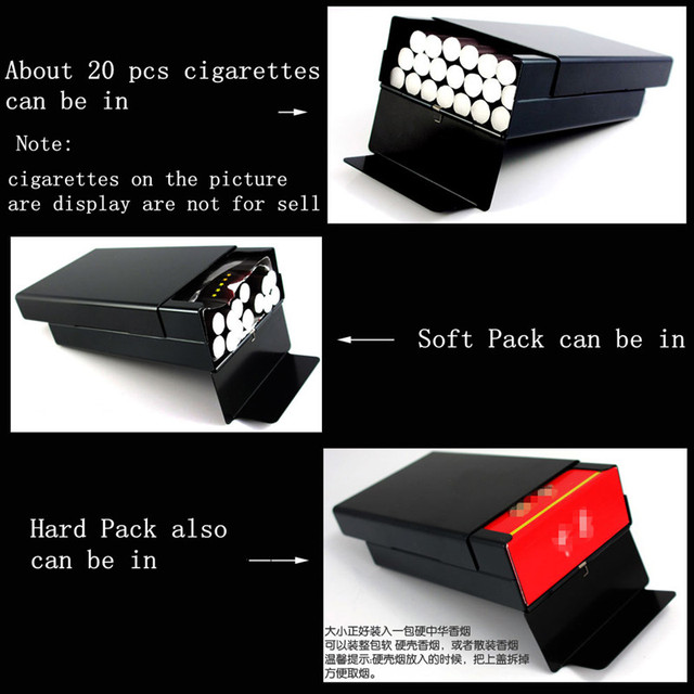 Che Guevara black male metal ultra thin Laifu cigarettes case men pocket cigarette boxes laser designed forever smoking parts