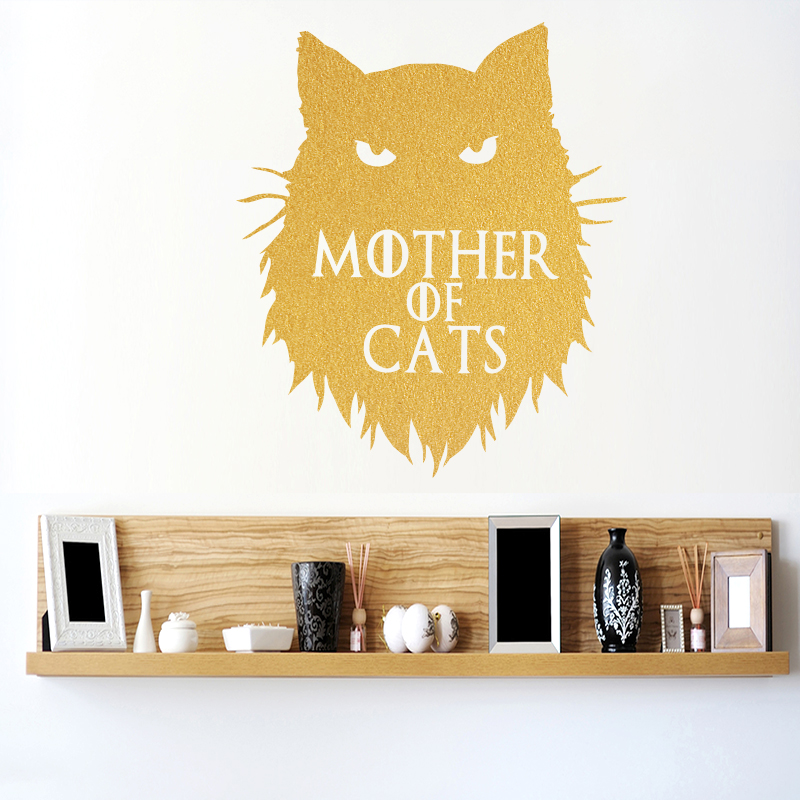 Game of Thrones Kattmamma Khaleesi Wall Sticker Heminredning Dekaler DIY Tecknad Bil Klistermärken eller Laptop Dekal Animal Pattern