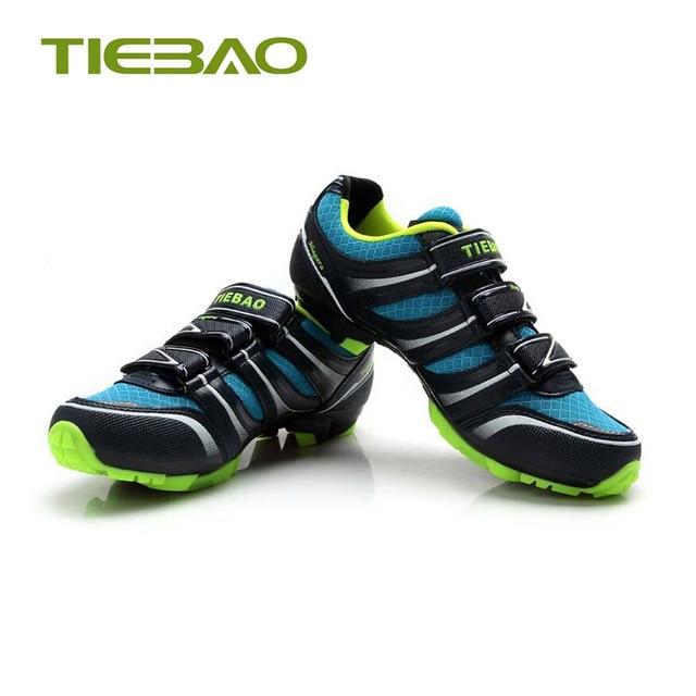 Tiebao profissional mtb ciclismo sapatos de corrida atlético ao ar livre sapatos de bicicleta auto-bloqueio spd cleated pedais tênis 3