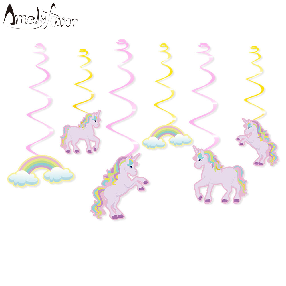 aliexpress com   buy unicorn party ceiling hanging swirl