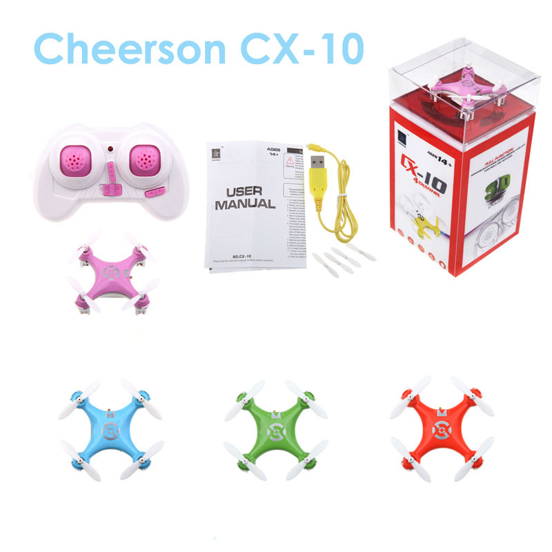 Dwi Dowellin Mini Drone Cheerson CX 10 Remote Control font b RC b font Quadcopter Nano