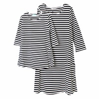 Family Clothing Matching Mother And Daughter Clothes Cotton Striped Mother Daughter Dress Casual Mommy And Me