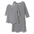 Family Clothing Matching Mother And Daughter Clothes Cotton Striped Mother Daughter Dress Casual Mommy And Me Clothes