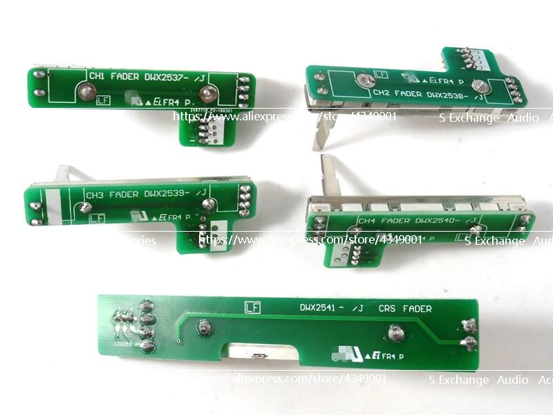 5 Teile/los Ch1 Ch2 Ch3 Ch4 X Fader FÜr Pioneer Djm 800 Dwx2537 2538 2539 2540 2541