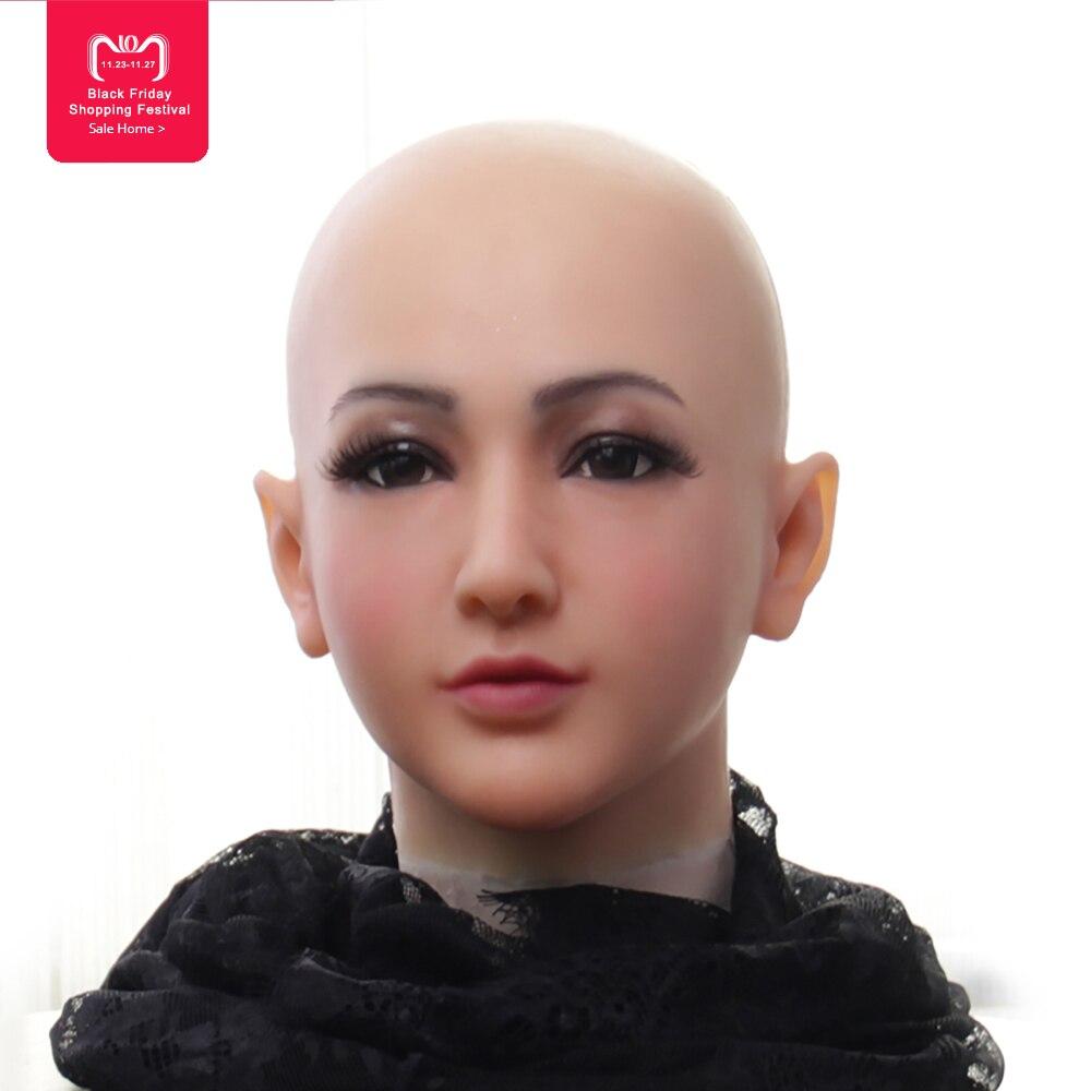 EYUNG Réaliste masque Déesse Claire pour cosplay Top mascarade silicone Haute simulation masque pour crossdresser visage drag queen