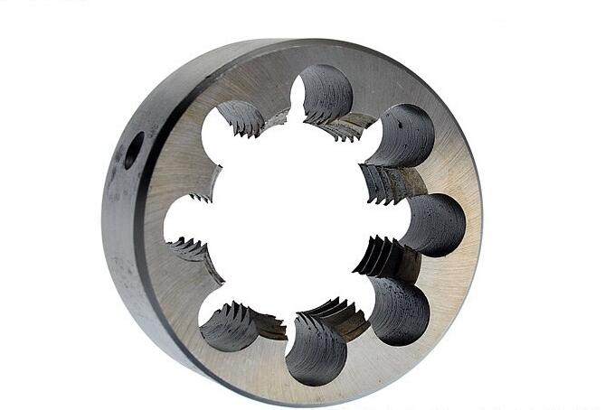 Free shipping 1PC 9SiCr made metric manual die M56*1.5/2.0/3.0/4.0/5.5mm for hand threading aluminum copper ect metal wrokpiece