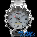 Mergulho Luxury LED Sports Luz Chronograph Mens Watch branco