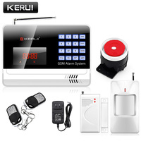 KERUI IOS Android APP 120 Wireless 2 Wired GSM Home Voice GSM Alarm Security System With