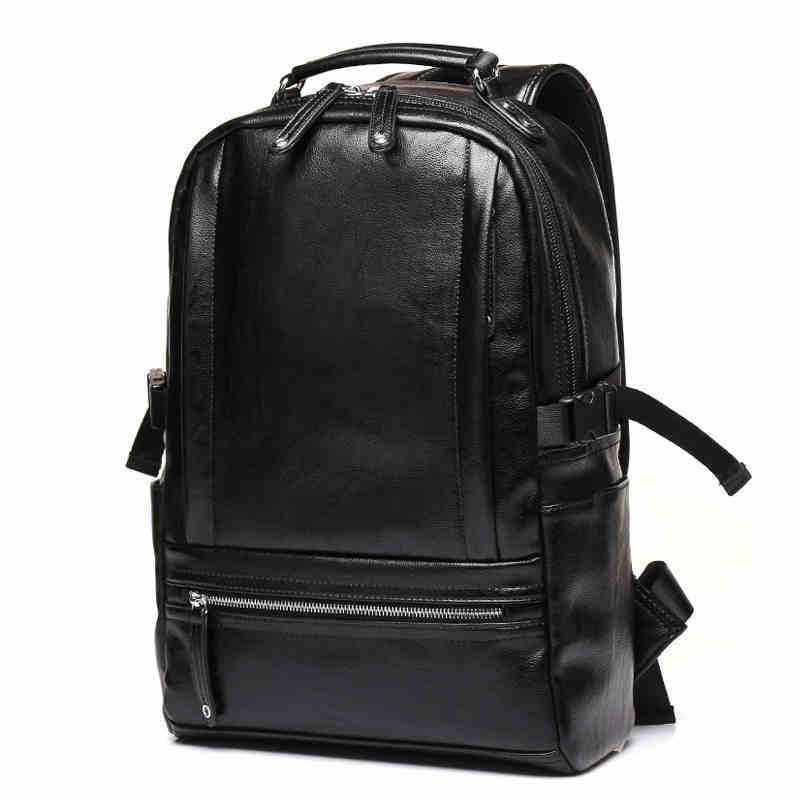 4a3280b8aaa0 Новый брендовый мужской рюкзак из кожи мужские функциональные сумки мужские  непромокаемые рюкзаки из искусственной кожи большой