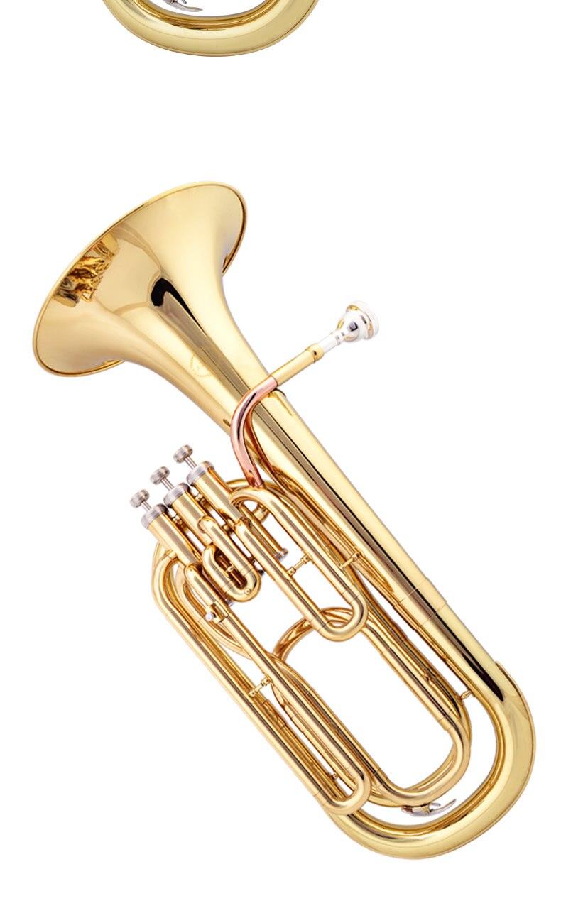 JAZZOR JZBT-300 Профессиональный баритон Рог B плоский Золотой/Серебряный латунный баритон латунный духовой инструмент с мундштуком и чехол