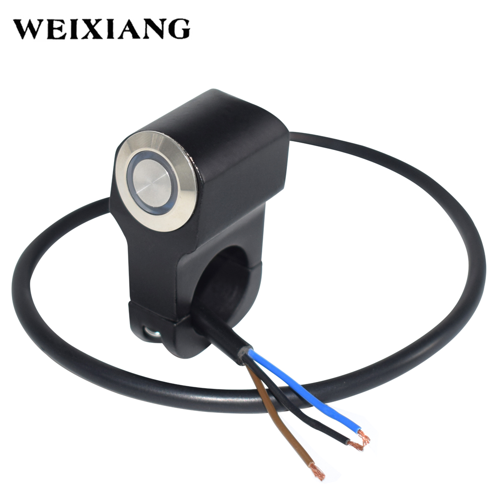 22mm 7 8 Motorcycle Switches Handlebar Mount Horn Power Start Kill Wiring Switch Button With