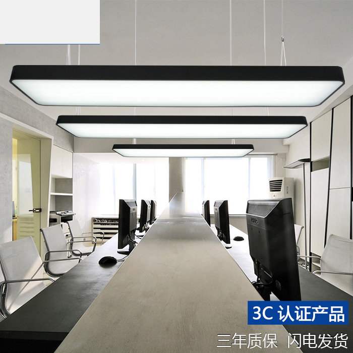 Led office chandelier long strip light school classroom restaurant led office chandelier long strip light school classroom restaurant rectangular ceiling light simple modern lighting fixture in pendant lights from lights mozeypictures Image collections