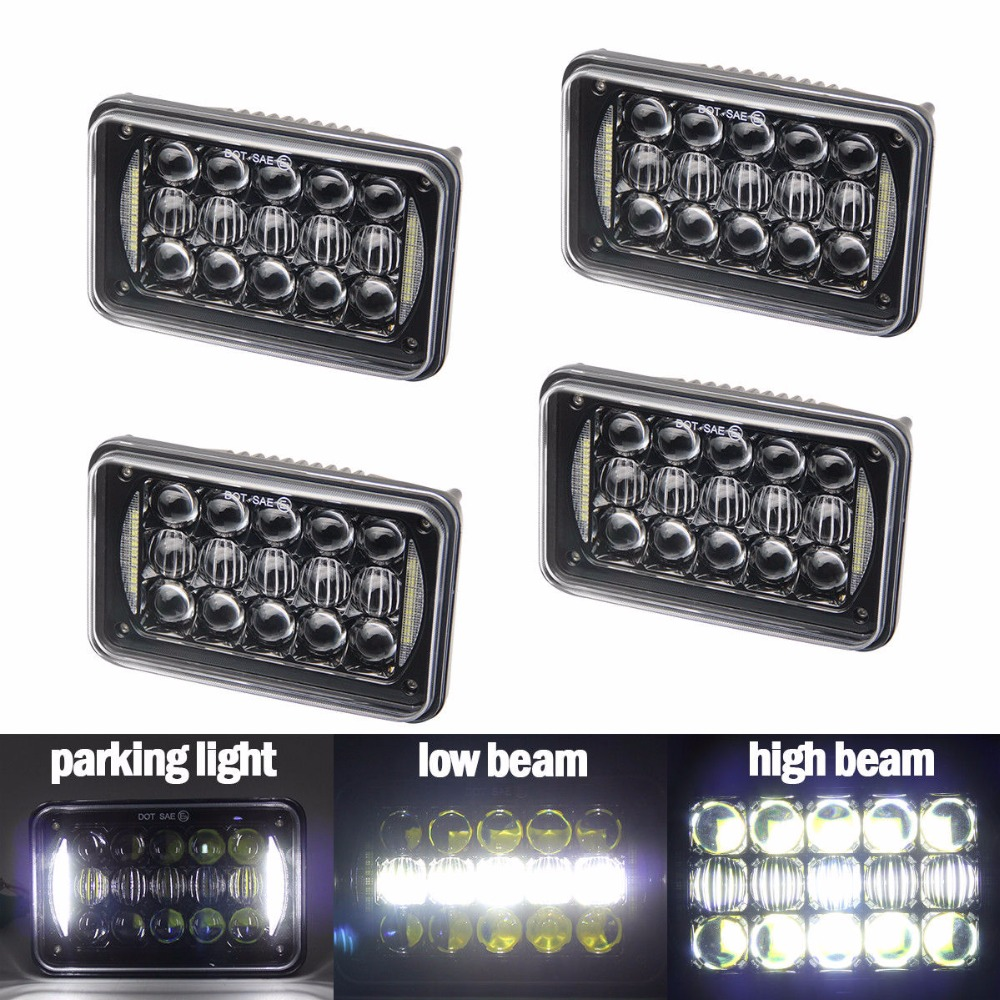 4x6 Rectangle square H4 sealed beam for truck Lighting LED Headlight bulb Replacement projector for H4651