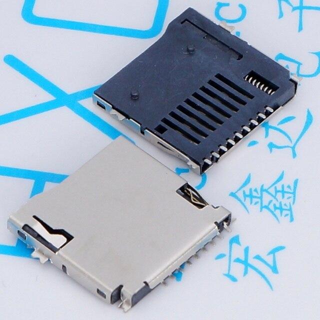 10 CÁI/LỐC TF MICRO SD Card 9Pin Thẻ TF Hàn Giữ Chơi Tự Thẻ Khe Cắm Thẻ Nhớ