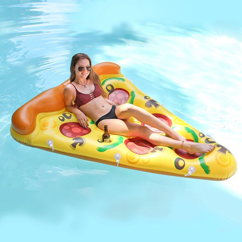 Inflatable Yellow Pizza Pool Toys Float  Inflatable Swimming Rings for Pool Party Favor Summer Holiday Water Air Mattress toys (4)